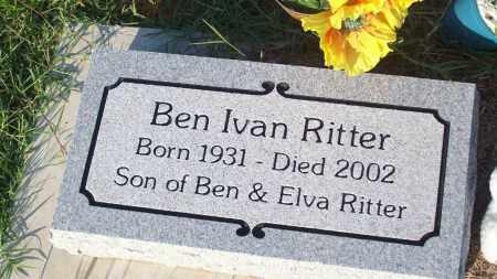 RITTER, BEN I. - Stephens County, Oklahoma | BEN I. RITTER - Oklahoma Gravestone Photos