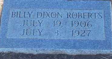 ROBERTS, BILLY DIXON - Stephens County, Oklahoma | BILLY DIXON ROBERTS - Oklahoma Gravestone Photos