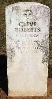 ROBERTS, CLEVE - Stephens County, Oklahoma   CLEVE ROBERTS - Oklahoma Gravestone Photos