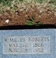 ROBERTS, W. MILLER - Stephens County, Oklahoma   W. MILLER ROBERTS - Oklahoma Gravestone Photos