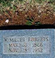 ROBERTS, W. MILLER - Stephens County, Oklahoma | W. MILLER ROBERTS - Oklahoma Gravestone Photos