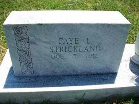 STRICKLAND, FAYE L. - Stephens County, Oklahoma   FAYE L. STRICKLAND - Oklahoma Gravestone Photos