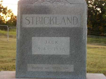 STRICKLAND, JACK - Stephens County, Oklahoma | JACK STRICKLAND - Oklahoma Gravestone Photos