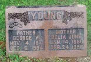 YOUNG, GEORGE W. - Stephens County, Oklahoma | GEORGE W. YOUNG - Oklahoma Gravestone Photos
