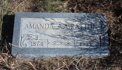 BRATTON, AMANDA A - Texas County, Oklahoma   AMANDA A BRATTON - Oklahoma Gravestone Photos