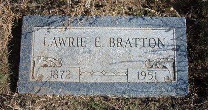 BRATTON, LAWRIE E - Texas County, Oklahoma | LAWRIE E BRATTON - Oklahoma Gravestone Photos