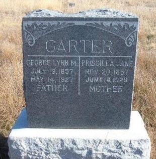 CARTER, PRISCILLA JANE - Texas County, Oklahoma | PRISCILLA JANE CARTER - Oklahoma Gravestone Photos