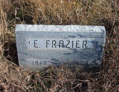 FRAZIER, EDWARD - Texas County, Oklahoma   EDWARD FRAZIER - Oklahoma Gravestone Photos