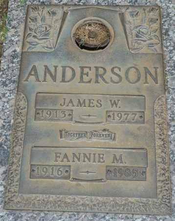 ANDERSON, FANNIE M - Tulsa County, Oklahoma | FANNIE M ANDERSON - Oklahoma Gravestone Photos