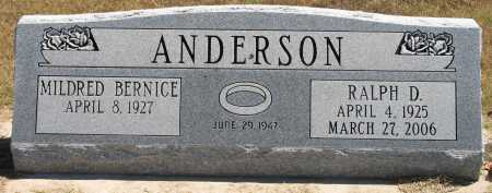 ANDERSON, RALPH DANIEL - Tulsa County, Oklahoma | RALPH DANIEL ANDERSON - Oklahoma Gravestone Photos