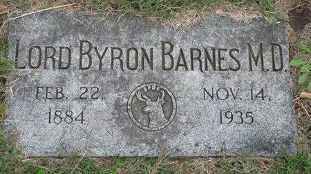 BARNES, LORD BYRON - Tulsa County, Oklahoma | LORD BYRON BARNES - Oklahoma Gravestone Photos