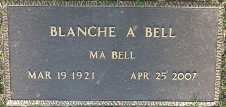 """BELL, BLANCHE A """"MA BELL"""" - Tulsa County, Oklahoma 