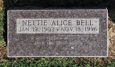 COLEMAN BELL, NETTIE ALICE - Tulsa County, Oklahoma | NETTIE ALICE COLEMAN BELL - Oklahoma Gravestone Photos