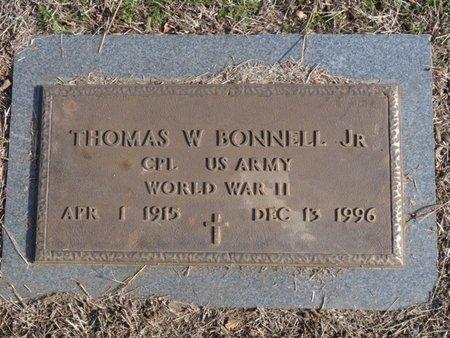 BONNELL (VETERAN WWII), THOMAS W.  JR. - Tulsa County, Oklahoma   THOMAS W.  JR. BONNELL (VETERAN WWII) - Oklahoma Gravestone Photos