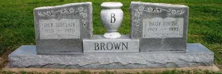 BROWN, JACK SINCLAIR - Tulsa County, Oklahoma | JACK SINCLAIR BROWN - Oklahoma Gravestone Photos