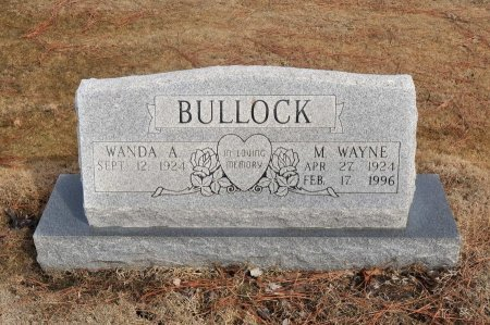 BULLOCK, M. WAYNE - Tulsa County, Oklahoma | M. WAYNE BULLOCK - Oklahoma Gravestone Photos