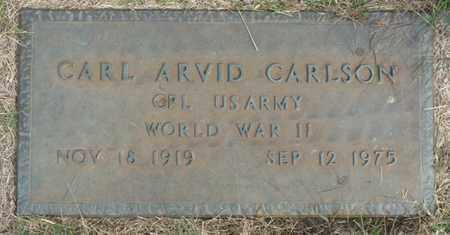 CARLSON (VETERAN WWII), CARL ARVID - Tulsa County, Oklahoma   CARL ARVID CARLSON (VETERAN WWII) - Oklahoma Gravestone Photos