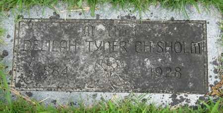 TYNER CHISHOLM, DELILAH - Tulsa County, Oklahoma   DELILAH TYNER CHISHOLM - Oklahoma Gravestone Photos