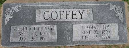 COFFEY, VIRGINIA E (JENNY) - Tulsa County, Oklahoma | VIRGINIA E (JENNY) COFFEY - Oklahoma Gravestone Photos