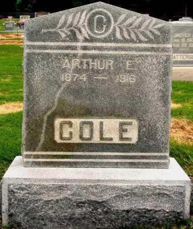 COLE, ARTHUR E - Tulsa County, Oklahoma | ARTHUR E COLE - Oklahoma Gravestone Photos