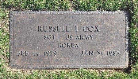 COX (VETERAN KOR), RUSSELL I. (NEW) - Tulsa County, Oklahoma | RUSSELL I. (NEW) COX (VETERAN KOR) - Oklahoma Gravestone Photos