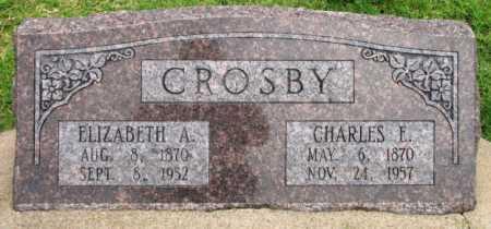 CROSBY, ELIZABETH A - Tulsa County, Oklahoma | ELIZABETH A CROSBY - Oklahoma Gravestone Photos