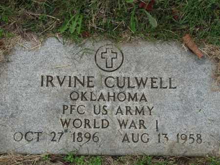 CULWELL (VETERAN WWI), IRVINE - Tulsa County, Oklahoma   IRVINE CULWELL (VETERAN WWI) - Oklahoma Gravestone Photos