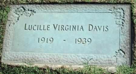 DAVIS, LUCILLE VIRGINIA - Tulsa County, Oklahoma | LUCILLE VIRGINIA DAVIS - Oklahoma Gravestone Photos