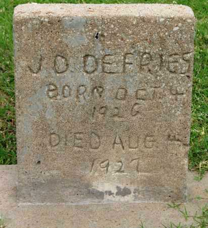 DEFRIES, J D - Tulsa County, Oklahoma | J D DEFRIES - Oklahoma Gravestone Photos
