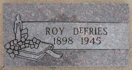 DEFRIES, ROY - Tulsa County, Oklahoma | ROY DEFRIES - Oklahoma Gravestone Photos