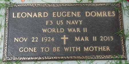 DOMRES (VETERAN WWII), LEONARD EUGENE - Tulsa County, Oklahoma | LEONARD EUGENE DOMRES (VETERAN WWII) - Oklahoma Gravestone Photos