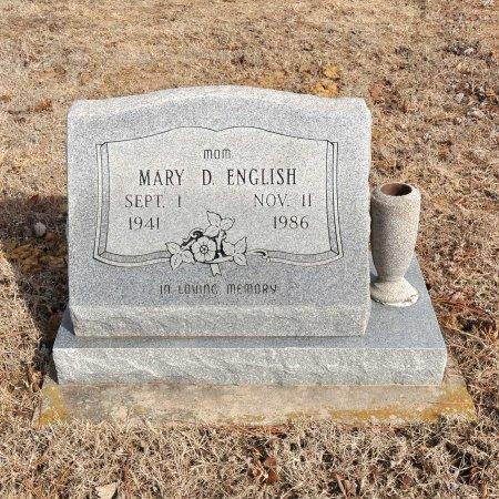 ENGLISH, MARY D. - Tulsa County, Oklahoma | MARY D. ENGLISH - Oklahoma Gravestone Photos
