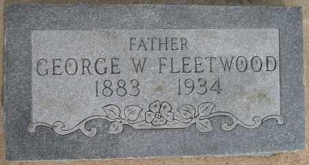 FLEETWOOD, GEORGE W - Tulsa County, Oklahoma   GEORGE W FLEETWOOD - Oklahoma Gravestone Photos