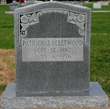 FLEETWOOD, PATRICK J - Tulsa County, Oklahoma | PATRICK J FLEETWOOD - Oklahoma Gravestone Photos