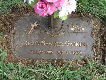 GASKILL, DEVIN SAWYER - Tulsa County, Oklahoma | DEVIN SAWYER GASKILL - Oklahoma Gravestone Photos