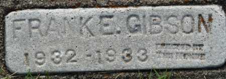 GIBSON, FRANK E - Tulsa County, Oklahoma | FRANK E GIBSON - Oklahoma Gravestone Photos