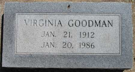 GOODMAN, VIRGINIA - Tulsa County, Oklahoma | VIRGINIA GOODMAN - Oklahoma Gravestone Photos