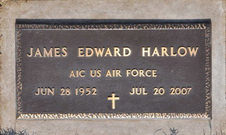 HARLOW (VETERAN), JAMES EDWARD (NEW) - Tulsa County, Oklahoma | JAMES EDWARD (NEW) HARLOW (VETERAN) - Oklahoma Gravestone Photos