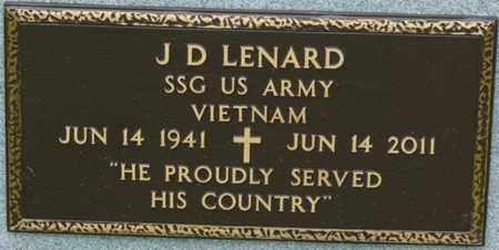 LENARD (VETERAN VIETNAM), J.D. - Tulsa County, Oklahoma | J.D. LENARD (VETERAN VIETNAM) - Oklahoma Gravestone Photos