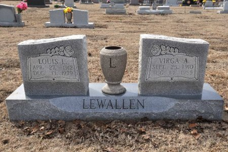 "LEWALLEN, VIRGIE ALISE ""VIRGA"" - Tulsa County, Oklahoma | VIRGIE ALISE ""VIRGA"" LEWALLEN - Oklahoma Gravestone Photos"