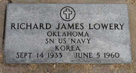 LOWERY, RICHARD JAMES - Tulsa County, Oklahoma | RICHARD JAMES LOWERY - Oklahoma Gravestone Photos