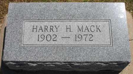 MACK, HARRY H - Tulsa County, Oklahoma | HARRY H MACK - Oklahoma Gravestone Photos