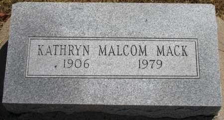 MACK, KATHRYN MALCOM - Tulsa County, Oklahoma | KATHRYN MALCOM MACK - Oklahoma Gravestone Photos