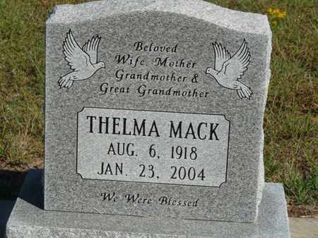 MACK, THELMA - Tulsa County, Oklahoma | THELMA MACK - Oklahoma Gravestone Photos