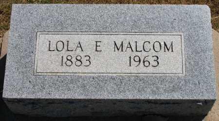 MALCOM, LOLA E - Tulsa County, Oklahoma | LOLA E MALCOM - Oklahoma Gravestone Photos