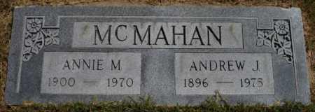 MCMAHAN, ANDREW J - Tulsa County, Oklahoma | ANDREW J MCMAHAN - Oklahoma Gravestone Photos