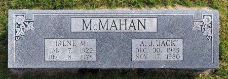 MCMAHAN, IRENE MAGGIE - Tulsa County, Oklahoma   IRENE MAGGIE MCMAHAN - Oklahoma Gravestone Photos