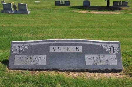 SMITH MCPEEK, CORA JANE - Tulsa County, Oklahoma   CORA JANE SMITH MCPEEK - Oklahoma Gravestone Photos