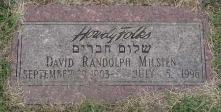 MILSTEN, DAVID RANDOLPH - Tulsa County, Oklahoma | DAVID RANDOLPH MILSTEN - Oklahoma Gravestone Photos
