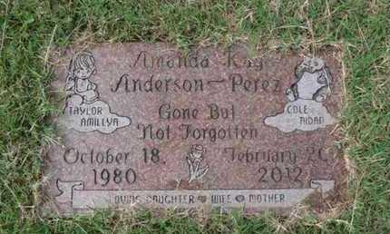 ANDERSON PEREZ, AMANDA KAY - Tulsa County, Oklahoma   AMANDA KAY ANDERSON PEREZ - Oklahoma Gravestone Photos